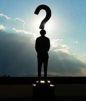 Silhouette of a person with a question mark above their head.